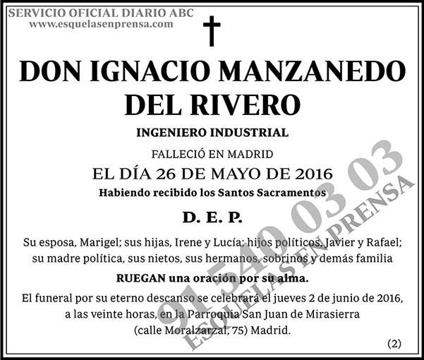 Ignacio Manzanedo del Rivero